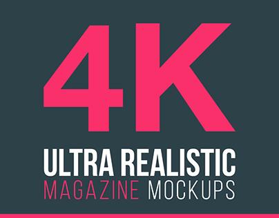 Free PSD Mockup - 4K Magazine