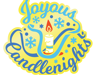 Merch Design // Joyous Candlenights Enamel Pin