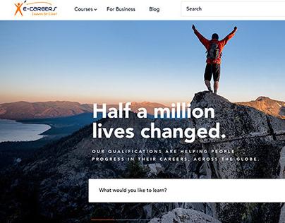 e-Careers.com UI design - Mobile + Desktop