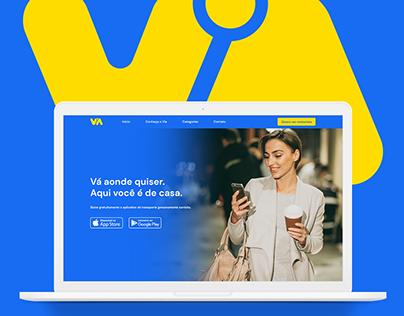 Via App | Landing Page & Visual Identity