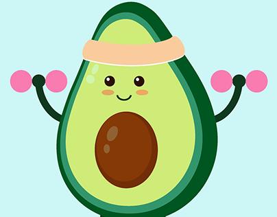 Set of the Sporty Avocado icons