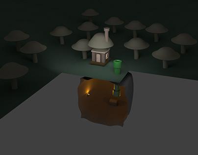 Mushroom House - Maya Project