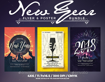 New Year Flyer & Poster Bundle