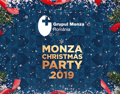Monza Xmas Party Background Loop Animation