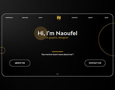 Personal Portfolio Web Site Design, UX/UI Design