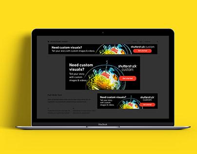 Shutterstock Custom Google Display Ads
