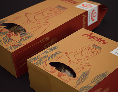 """Package design for """"Agotos"""" rye bread"""