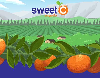 Sweet C website graphics