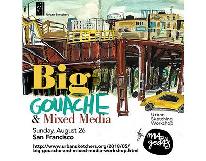 Big gouache & Mixed media Workshop