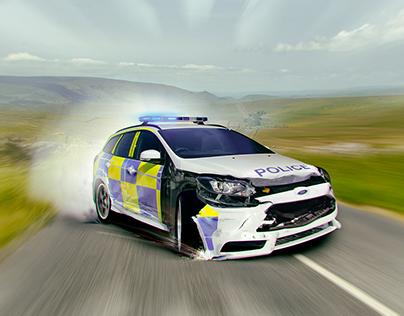 Crashed Police Car