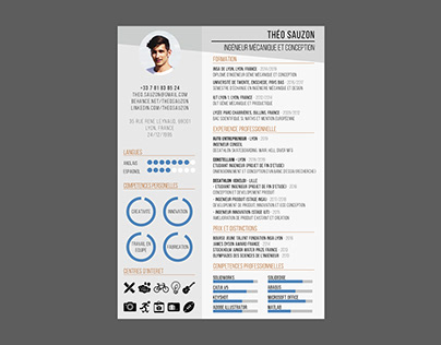 Théo SAUZON 2019 Graphic Design CV RESUME