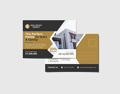 Real Estate Modern Postcard design vol- 7