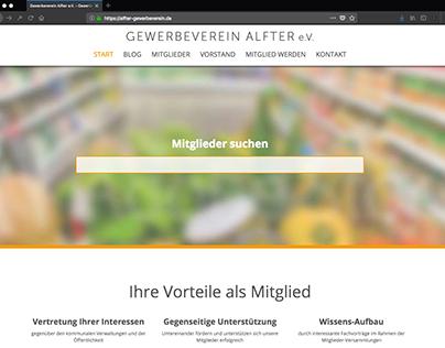 Webseite für Gewerbeverein Alfter