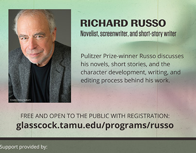 Richard Russo Lecture Poster