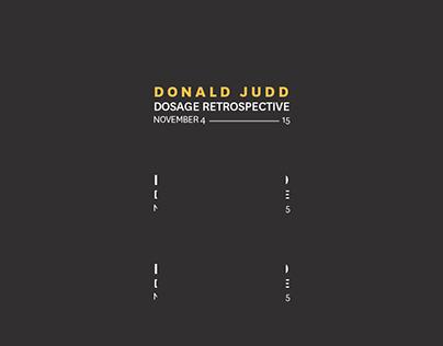 Donald Judd Poster
