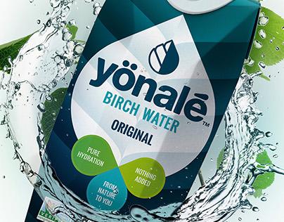 Yönalé Birch Water branding & packaging