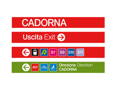 Milan Subway Signage restyling supervision and revision