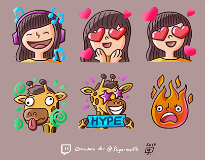 Sugarmellie - Twitch Emotes