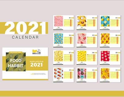Desk Calendar   Food Calendar Design