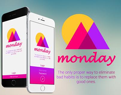 Monday app - Get rid of bad habits