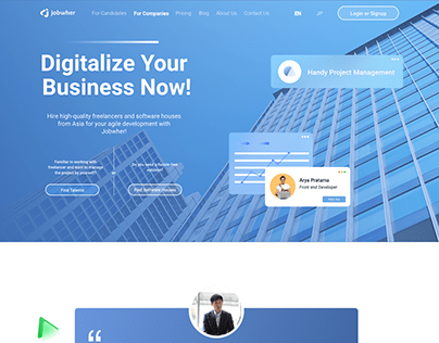 Jobwher - Company Landing Page