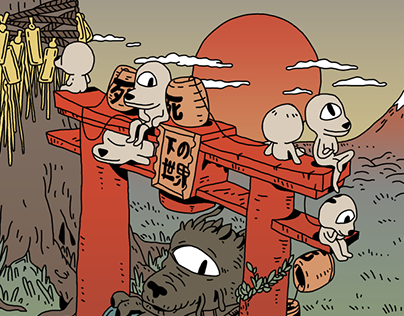 Tokyo trip illustrations