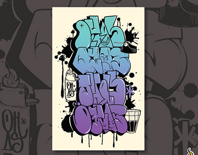 T-shirt (Graffiti Throw-up)