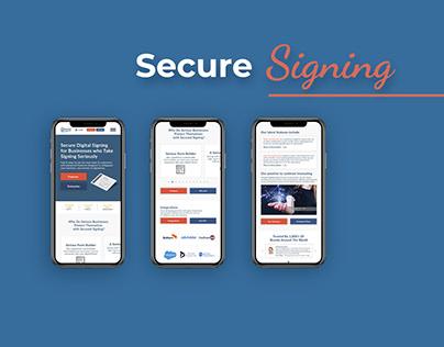 Secure Digital Signing Company Website ReDesign