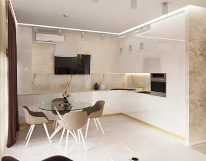 Interior design in modern style. Kharkov, Ukraine
