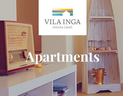 Vila Inga Apartments web design