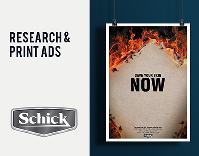 Schick - Infographic & Print Ads