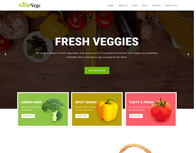 Project-24 (Goodness Meal Services Website Design)