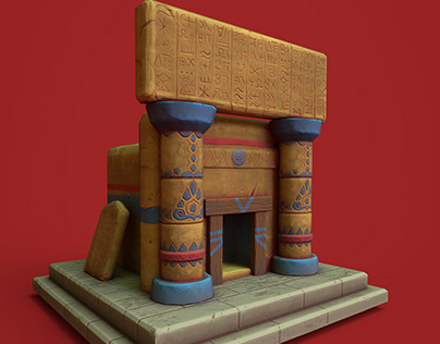 Low Poly Game (mesopotamian tomb)