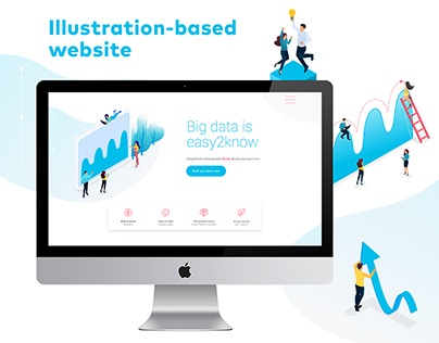 Illustration-based website