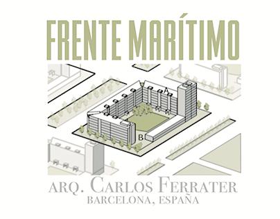 Análisis manzana Frente Marítimo, Barcelona. Ferrater