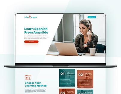 Spanish Tutoring School - Landing Page