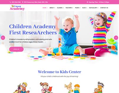 Umang Academy : Kindergarden, Kids Play School Templat