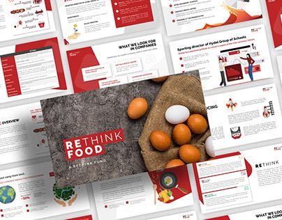 Rethink Food - Food Pitch Deck