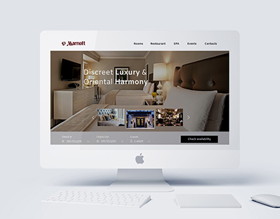 Marriot Hotels Web redesign