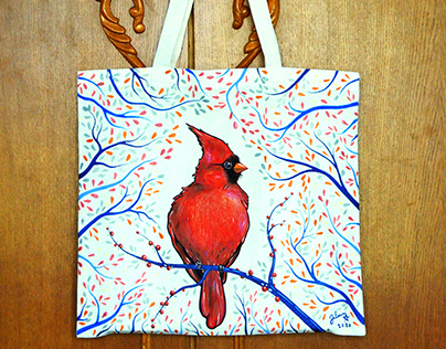 Painted tote bags 2020