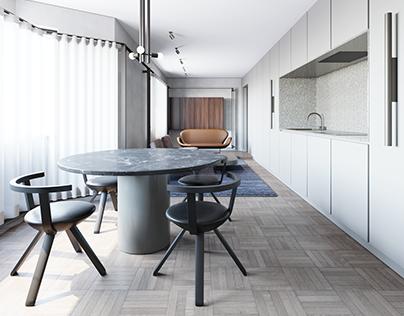 56 sq meters apartment