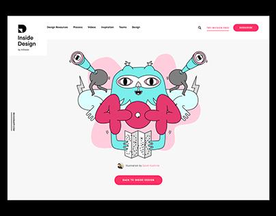 InVision Inside Design 404 Page Illustration