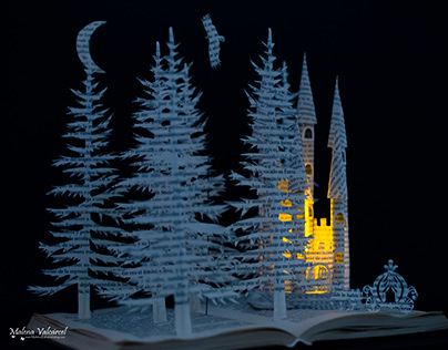Fairytale Castle with Carriage - Book Sculpture