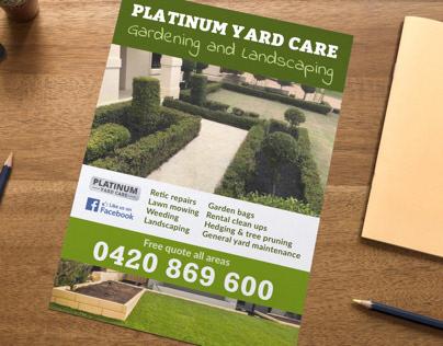 Platinum Yard Care A4 Flyer
