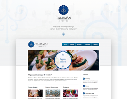 Website & Logo Design | Talismán Eventos