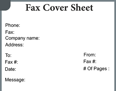 Free fax cover sheet Printable Template