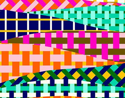 Basketweave Patterns Created in Adobe Fresco