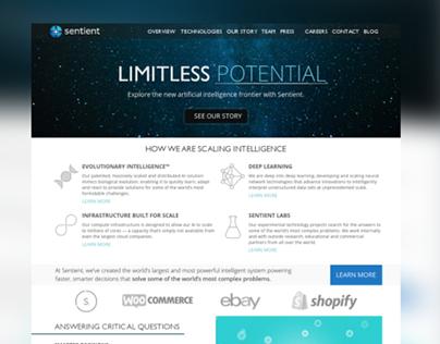 Sentient AI Website Design Concept