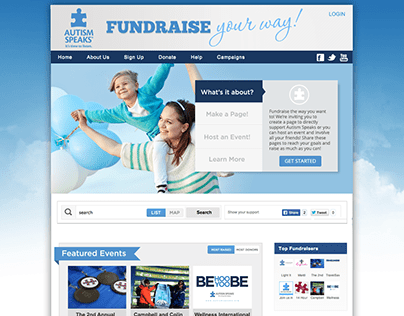Autism Speaks Fundraising Site