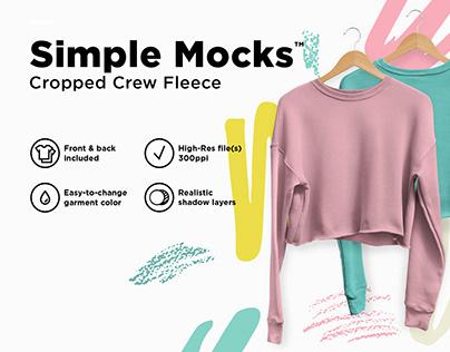 Cropped Crew Fleece Mockup